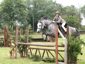 Cerys Howell and Mr Murphy in the Derby Class at Gransha